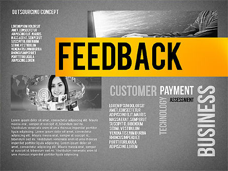 Outsourcing World Cloud, Slide 14, 02493, Presentation Templates — PoweredTemplate.com