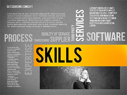 Outsourcing World Cloud, Slide 16, 02493, Presentation Templates — PoweredTemplate.com