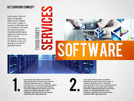 Outsourcing World Cloud, Slide 2, 02493, Presentation Templates — PoweredTemplate.com