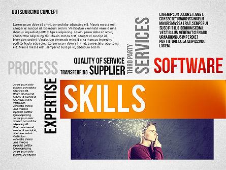 Outsourcing World Cloud, Slide 8, 02493, Presentation Templates — PoweredTemplate.com