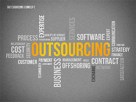 Outsourcing World Cloud, Slide 9, 02493, Presentation Templates — PoweredTemplate.com