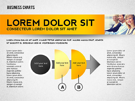 Colorful Business Charts Collection, Slide 2, 02499, Business Models — PoweredTemplate.com