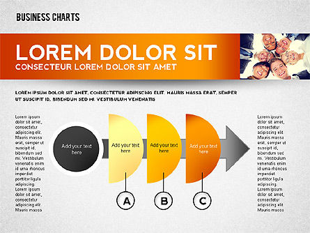 Colorful Business Charts Collection, Slide 3, 02499, Business Models — PoweredTemplate.com