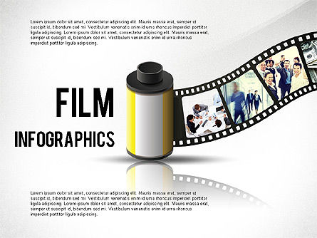 Film Reel Infographics, 02500, Infographics — PoweredTemplate.com