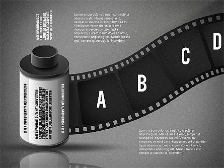 Film Reel Infographics, Slide 10, 02500, Infographics — PoweredTemplate.com