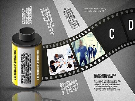 Film Reel Infographics, Slide 12, 02500, Infographics — PoweredTemplate.com