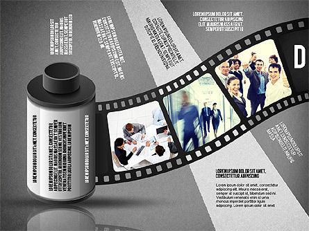 Film Reel Infographics, Slide 13, 02500, Infographics — PoweredTemplate.com