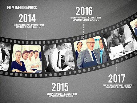 Film Reel Infographics, Slide 15, 02500, Infographics — PoweredTemplate.com