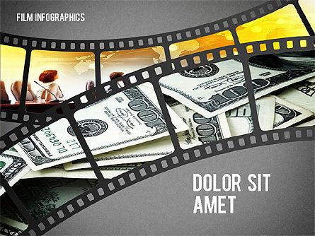 Film Reel Infographics, Slide 16, 02500, Infographics — PoweredTemplate.com