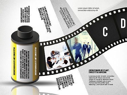 Film Reel Infographics, Slide 4, 02500, Infographics — PoweredTemplate.com