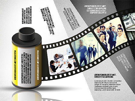 Film Reel Infographics, Slide 6, 02500, Infographics — PoweredTemplate.com