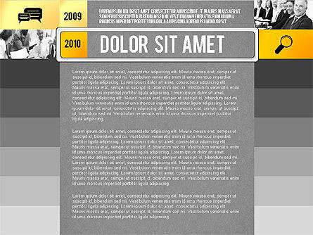 Timeline Report with Photos and Icons, Slide 10, 02501, Presentation Templates — PoweredTemplate.com