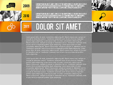 Timeline Report with Photos and Icons, Slide 11, 02501, Presentation Templates — PoweredTemplate.com