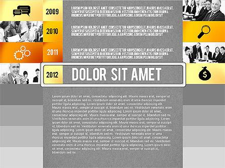 Timeline Report with Photos and Icons, Slide 12, 02501, Presentation Templates — PoweredTemplate.com