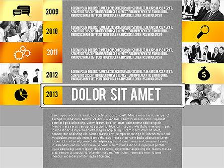 Timeline Report with Photos and Icons, Slide 13, 02501, Presentation Templates — PoweredTemplate.com