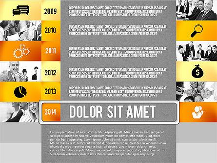 Timeline Report with Photos and Icons, Slide 14, 02501, Presentation Templates — PoweredTemplate.com
