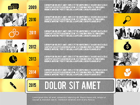 Timeline Report with Photos and Icons, Slide 15, 02501, Presentation Templates — PoweredTemplate.com