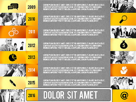 Timeline Report with Photos and Icons, Slide 16, 02501, Presentation Templates — PoweredTemplate.com