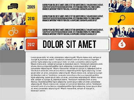 Timeline Report with Photos and Icons, Slide 4, 02501, Presentation Templates — PoweredTemplate.com