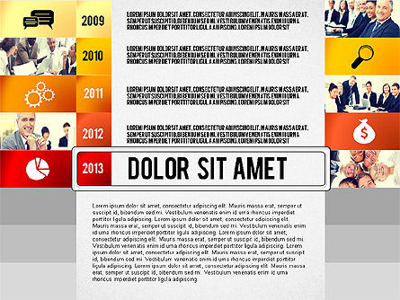 Timeline Report with Photos and Icons, Slide 5, 02501, Presentation Templates — PoweredTemplate.com