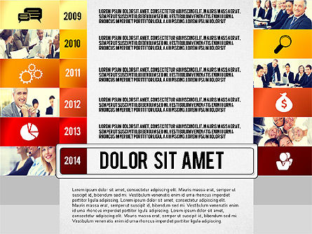 Timeline Report with Photos and Icons, Slide 6, 02501, Presentation Templates — PoweredTemplate.com