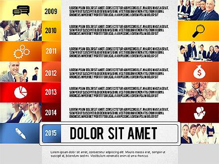 Timeline Report with Photos and Icons, Slide 7, 02501, Presentation Templates — PoweredTemplate.com
