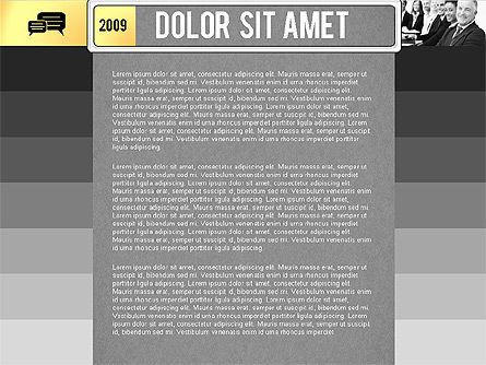 Timeline Report with Photos and Icons, Slide 9, 02501, Presentation Templates — PoweredTemplate.com