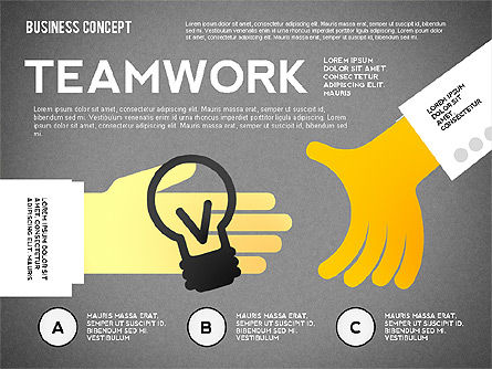 Team Work Presentation Template, Slide 10, 02502, Presentation Templates — PoweredTemplate.com
