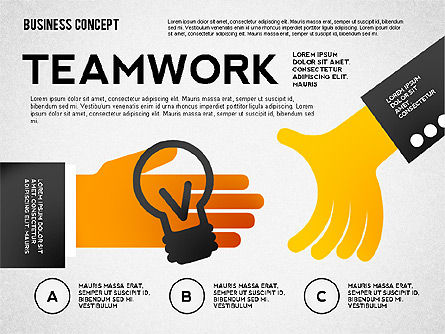 Team Work Presentation Template, Slide 2, 02502, Presentation Templates — PoweredTemplate.com