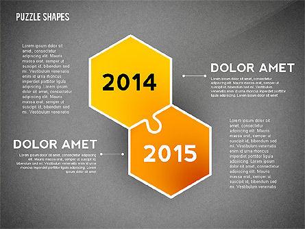 Puzzle Infographics Shapes, Slide 10, 02504, Puzzle Diagrams — PoweredTemplate.com
