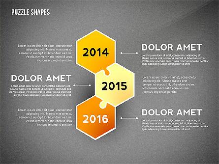 Puzzle Infographics Shapes, Slide 12, 02504, Puzzle Diagrams — PoweredTemplate.com