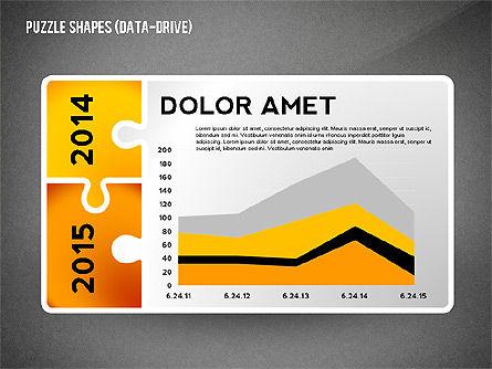 Puzzle Infographics Shapes, Slide 13, 02504, Puzzle Diagrams — PoweredTemplate.com
