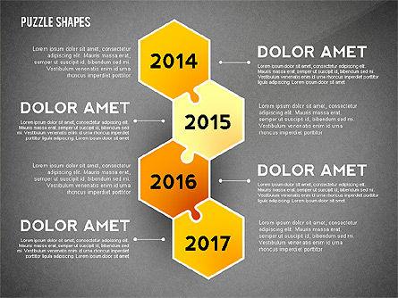 Puzzle Infographics Shapes, Slide 14, 02504, Puzzle Diagrams — PoweredTemplate.com