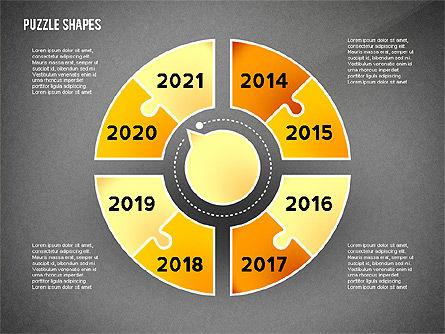 Puzzle Infographics Shapes, Slide 15, 02504, Puzzle Diagrams — PoweredTemplate.com