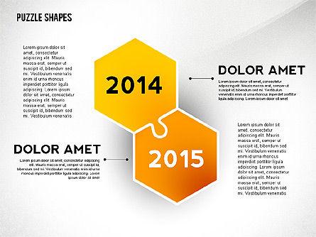 Puzzle Infographics Shapes, Slide 2, 02504, Puzzle Diagrams — PoweredTemplate.com
