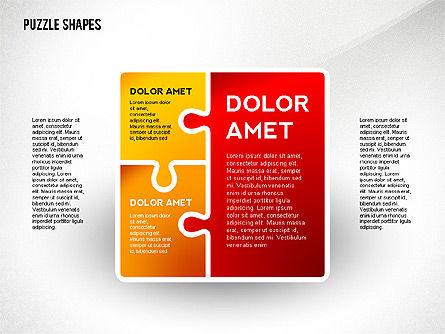 Puzzle Infographics Shapes, Slide 3, 02504, Puzzle Diagrams — PoweredTemplate.com