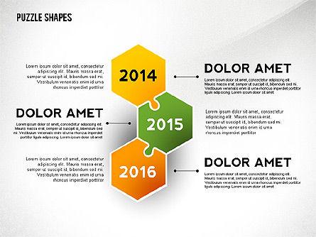 Puzzle Infographics Shapes, Slide 4, 02504, Puzzle Diagrams — PoweredTemplate.com
