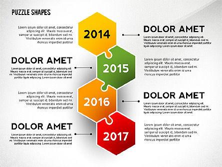 Puzzle Infographics Shapes, Slide 6, 02504, Puzzle Diagrams — PoweredTemplate.com