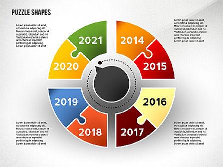 Puzzle Infographics Shapes, Slide 7, 02504, Puzzle Diagrams — PoweredTemplate.com