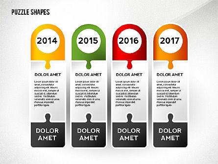 Puzzle Infographics Shapes, Slide 8, 02504, Puzzle Diagrams — PoweredTemplate.com