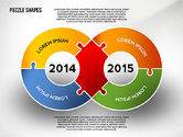 Puzzle Diagrams: Puzzle Infographics Shapes #02504