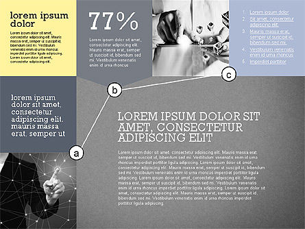 Presentation with Connections in Flat Design, Slide 10, 02507, Presentation Templates — PoweredTemplate.com