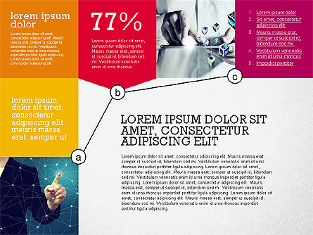 Presentation with Connections in Flat Design, Slide 2, 02507, Presentation Templates — PoweredTemplate.com