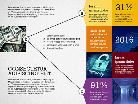 Presentation with Connections in Flat Design, Slide 4, 02507, Presentation Templates — PoweredTemplate.com