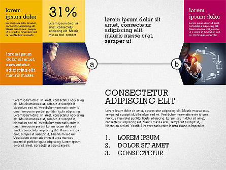 Presentation with Connections in Flat Design, Slide 6, 02507, Presentation Templates — PoweredTemplate.com