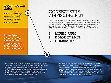 Presentation with Connections in Flat Design, Slide 7, 02507, Presentation Templates — PoweredTemplate.com