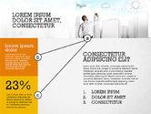 Presentation Templates: Presentación con Conexiones en Diseño Plano #02507