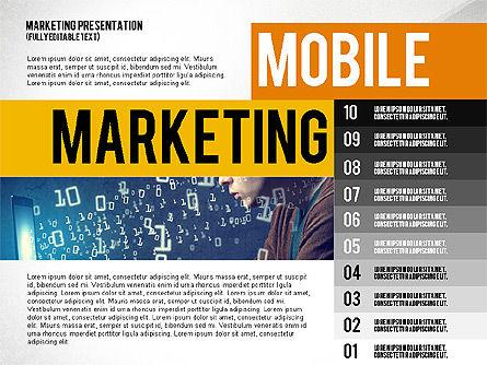 Mobile Marketing Presentation Template, Slide 2, 02509, Presentation Templates — PoweredTemplate.com