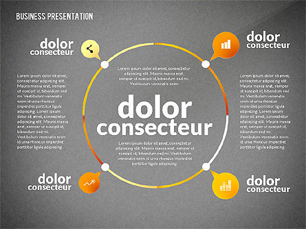 Presentation in Inforgraphics Style, Slide 12, 02511, Presentation Templates — PoweredTemplate.com