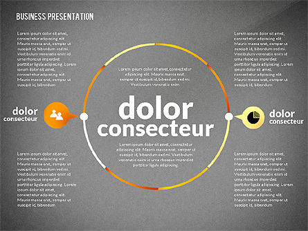 Presentation in Inforgraphics Style, Slide 14, 02511, Presentation Templates — PoweredTemplate.com